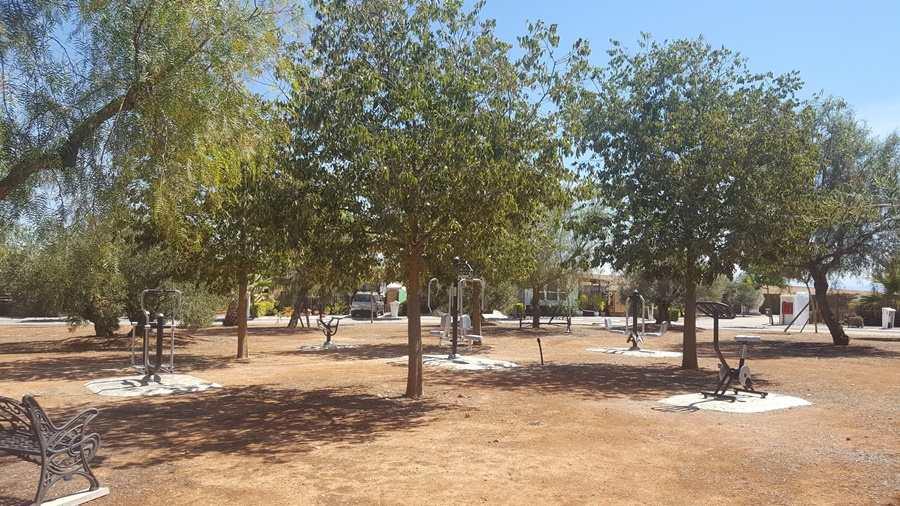Residential park Spain, mobile home park spain, retirement park spain, residential retirement park spain, retirement park community, Open Air GYm